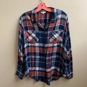 Lucky Brand plaid flannel shirt L